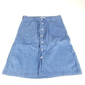 Levi's Women's Blue Denim Button Front Skirt